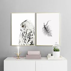 - Unqiue Design Boutique Designer Decor Trends: Posters & Prints Wall Art Canvas Painting Wall Pictures For Living Room Nordic Owl Decoration N