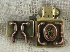 Steampunk zippo - I'm disappointed that of all the steampunk smoker I know, none of them has a sweet lighter like this