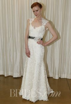 Judd Waddell wedding dress - Fall 2013 lace sweetheart queen anne neckline trumpet bridal wedding gown