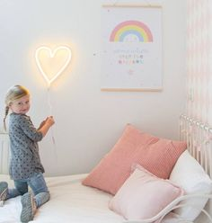 Super trendy yellow heart shaped wall lamp in neon style. This LED lamp is an energy efficient and sustainable variant of the popular neon lamp.