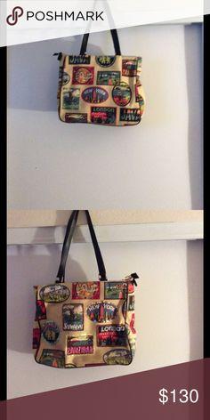 Women purse Purse is design, 9 beautiful around the world; New York, Tokyo,Java,London,Shanghai,Paris, ZanbiB, Venice, Bombay no brand Bags Shoulder Bags