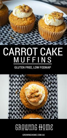 These amazing gluten free carrot muffins are perfect for morning tea, brunch, school or work lunch bags, or a bake sale! Can also be made as a cake or slice.