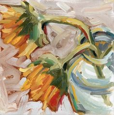 """""""Sunflowers in A Vase"""" by Sam Luther 
