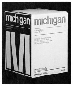 Giulio Cittato — Michigan Salt Company, packaging (1969)