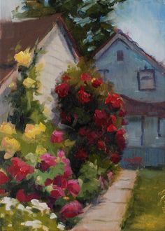 Squeeze In - Paint Out: No. 460 Return to the Antique Rose Garden
