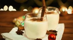 Classic holiday eggnog tea latte recipe from David's Tea Holiday Drinks, Holiday Desserts, Holiday Recipes, Holiday Ham, Spiced Eggnog, Davids Tea, Latte Recipe, Tea Latte, Non Alcoholic Drinks