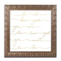 'How Good Gold' Framed Textual Art Print