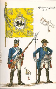 The Army of Frederick The Great of Prussia 1750. Infantry Regiment No.3