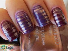 Purple with Gold #gold #nails #nailart #purple #manicure -bellashoot.com