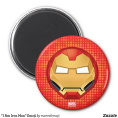 """I Am Iron Man"" Emoji. Producto disponible en tienda Zazzle. Decoración para el hogar. Product available in Zazzle store. Home decoration. Regalos, Gifts. #imanes #magnets"