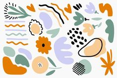 Descarga gratis Fondo De Formas Orgánicas Abstractas Dibujadas A Mano