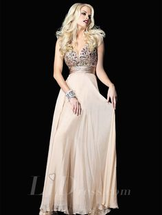 59f1c3f9d15c Champagne Strapless Sleeveless Deep V-Neck Sexy Evening Party Dresses