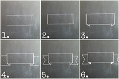 My Vintage Window: Another Chalkboard Tutorial... How to draw 3 chalk banners