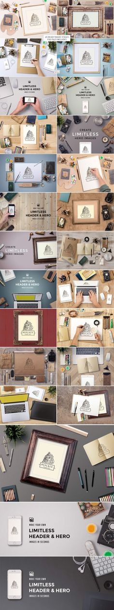 Art Equipment Scene Generator - Product Mockups - Hero Image - Header - Design - Illustration - Illustrator - Studio - Portfolio - Graphic Design