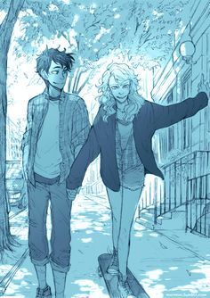 I finished this one. Percy teaches Annabeth how to skate at the eighty-second…