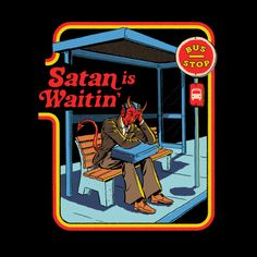 Satan is Waitin' by Steven Rhodes Just Kids, Photographie Portrait Inspiration, Satanic Art, Bizarre Art, Retro Illustration, Photo Wall Collage, Collage Art, Retro Art, Psychedelic Art