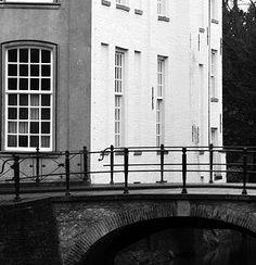 Zwart wit foto Muurhuizen Amersfoort