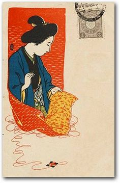 """Woman Sewing for a Soldier""  Propaganda postcards of the Russo-Japanese War 1904-05"