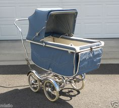 Vintage 1960s Stroll O Chair Baby Carriage Bassinet Blue Rex Manufacture | eBay