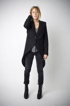 Fall/Winter 2012 - Morning Coat This coat resembles historical menswear with the long coat tails in the back.