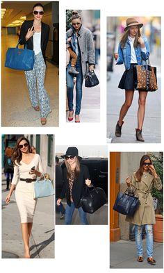 YSL | Miranda Kerr carries Yves Saint Laurent, Louis Vuitton, Alexander Wang, Prada, Céline, Givenchy Bags