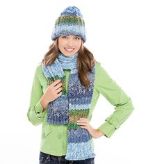 Premier Yarns Chunky Hat & Scarf #knit #pattern