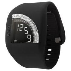 Relojes ODM: Reloj Digital QuadTime Swarovski. Permite ver la hora en distintas posiciones.   http://www.tutunca.es/reloj-digital-odm-quadtime-negro