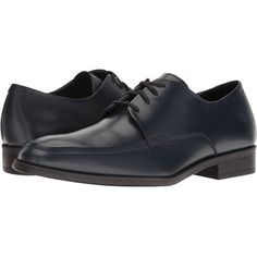 Calvin Klein Draven (Dark Navy) Men's Shoes (€39) ❤ liked on Polyvore featuring men's fashion, men's shoes, men's loafers, navy, mens leather shoes, navy blue mens shoes, mens patent leather formal shoes, mens lace up shoes and mens navy shoes