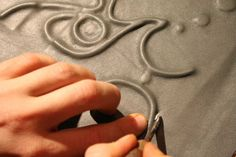 Leather relief for a hardcover book