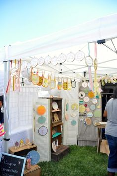 hoop art display