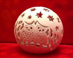 Kugelrund und Co... von AllerleiSchoenes auf Etsy Gourds, Clay Art, White Ceramics, Creative, Sculpture, Lights, Ambient Light, Pottery Ideas, Inspiration