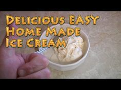 How to Make Delicious Home Made Ice Cream EASY - YouTube