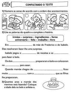 """"""" Atividades Escolares """": Atividades Para 2º Ano Alunos Nível Alfabético"""