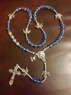Baptism Rosary by SterlingHappiness on Etsy Holy Rosary, Rosary Catholic, Catholic Prayers, Rosary Bracelet, Rosary Beads, Catholic Christening, Just Because Gifts, Photo Charms, Religious Jewelry
