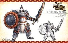 Monster Hunter Fan Art: Gypceros Armor by DeLoria-Shine.deviantart.com on @DeviantArt