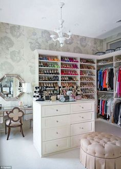 Dressing Room. No remodel needed just buy shelves and furniture to place against the walls