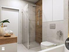 Łazienka w jasnych, ciepłych kolorach - zdjęcie od MONOstudio