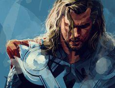 Thor portrait by dicemanart.deviantart.com on @deviantART