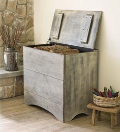 Pine Firewood Storage Box | Wood Storage