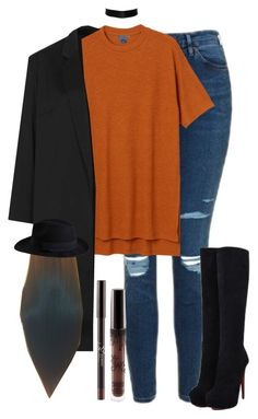 """Untitled #844"" by fashionista2704 ❤ liked on Polyvore featuring Topshop, Monki, Christian Louboutin and Pieces"