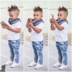 This baby has style, the cutest baby boy! The only way to dress your three year old!