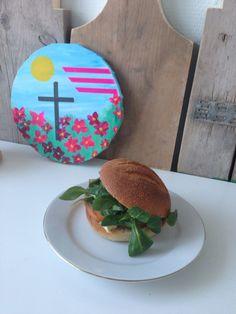 Broodje en canvas