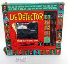 1960 Mattel Lie Detector Scientific Crime Board Game Amateur Detective ~ I want this one!!!!