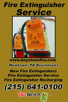 Fire Extinguisher Service Newtown, PA (215) 641-0100 We're Keystone Fire Protection. Call Today and Discover the Complete Source for all Your Fire Protection!