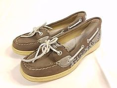 Women's Grey Sperry Top-sider Shoes Size 7m FREE SHIPPING!