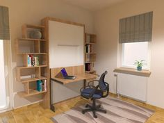 ALPHA BED™ system with desk mechanism and cabinet (optional extra)