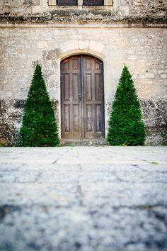 https://flic.kr/p/zP9ZZQ | Green guardians. | Church doorway in Chedigny, France