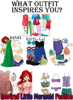Fairy Tale Magazine: August 2014 Edition Ariel gives some fashion ideas part 2 #ariel #littlemermaid #fairytalemagazine #fashionideas #forgirls