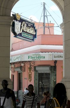 El Floridita - Hemingway's favorite Daiquiri bar in Havana. Record holder for one the largest daiq's ever made.