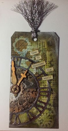 like the rusted clock..could make from card stock and rust paint?